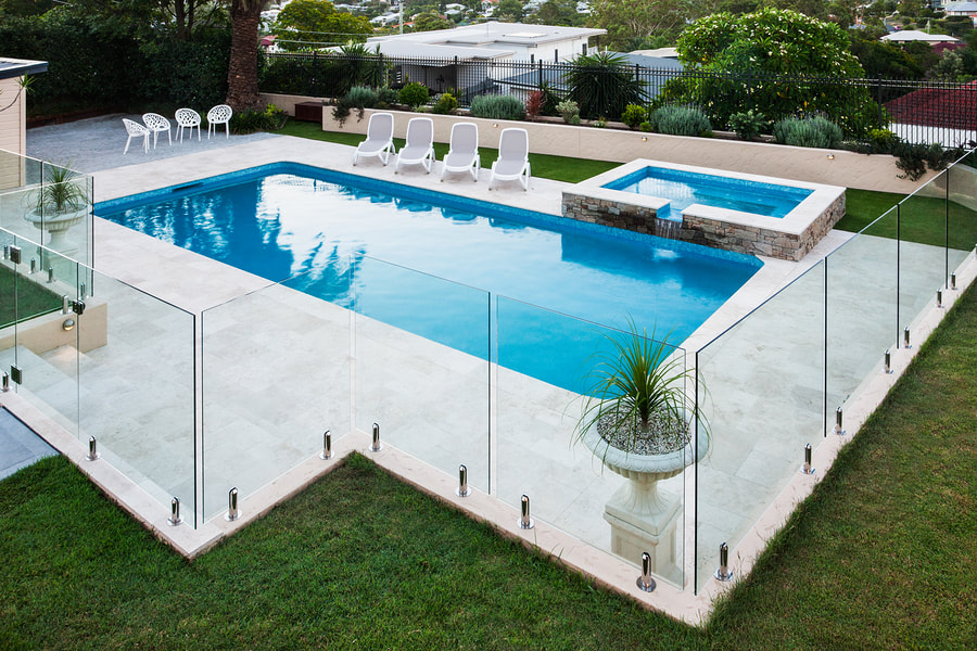 This is a picture of a pool fence.